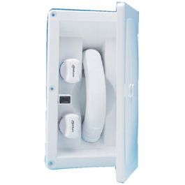 Hot and Cold Water Lockable Hinged Cover Whale RT2658 Swim /'n/' Rinse Transom Shower White ABS Housing 7-Foot Hose