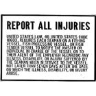 Bernard Engraving Report All Injuries Plaque BER P230