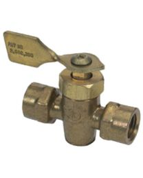Moeller 1/4In Female/Male Brass Shut-O MOE 03330310