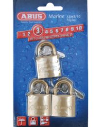 Abus Lock Padlock Brass 1-1/4 Key 3/Cd ABU 56413