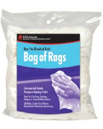 Buffalo Industries New White Knit Wipers 8 Oz. BUF 60205