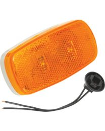 Bargman LED #38 Clearance / Side Marker Light  Amber W/Black Base/Pig FUW 4238034