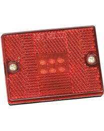 Bargman #42 LED Clearance / Side Marker Light Red FUW 4242401