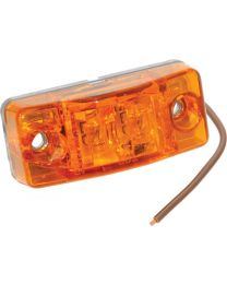 Bargman LED #99 Waterproof Clearance / Side Marker Light Amber FUW 4299402