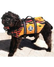 Paws Aboard Doggy Life Jacket Xl Flames PAW F1600