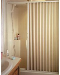 Irvine Shade & Door Pleated Shower Door RH Ivory ISD 3657SI