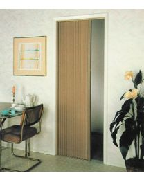 Irvine Shade & Door Pleated Folding Door Beige 8Lb ISD 4875FB
