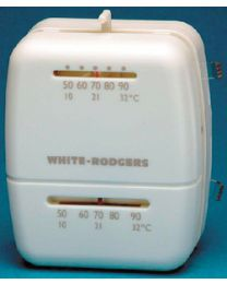 White Rodgers Univ. Heat/Cool T-Stat White WHR M100
