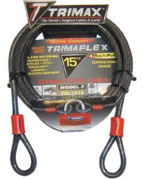 Trimax Locks 15'Dual Loop-Multi Use Cable TRX TDL1510