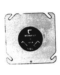 Midwest Elect Prod 30/Amp Recp On Plate MEP 1263BOX