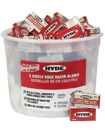 Hyde Tools Razor Blades Pail 100   5-Pack HYT 49500
