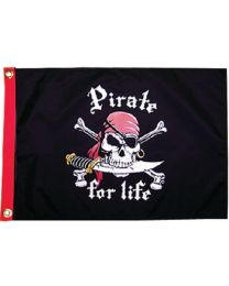 Taylor Pirate For Life 12X18 Flag TAY 1800