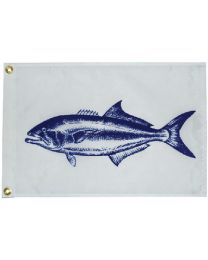 Taylor Flag 12Ftx18In Nylon Blue Fish TAY 2518