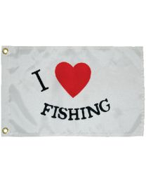 Taylor Flag 12X18 Nyl I Love Fishing TAY 3718