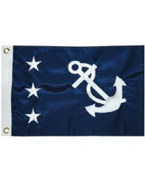 Taylor Flag 12Inx18In Past Commodore TAY 93082