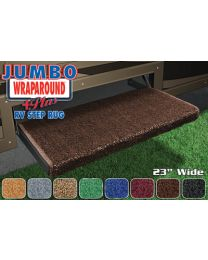 Prest-O-Fit Jumbo Wrap-Around Step Rug Black PSF 20050
