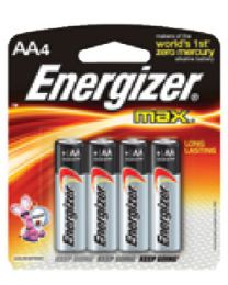Eveready Battery Battery Aa Energizer 4/Cd  @12 EVR E91BP4