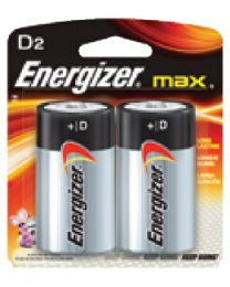 Eveready Battery Battery D Energizer 2/Cd   @12 EVR E95BP2