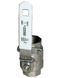 Groco 1-1/2 Stainless Ff Ball Valve GRO IBV1500S