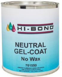 Hi Bond Gel Coat Neutral No Wax Gallon HIB 701550