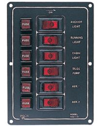 Sea-Dog Line Aluminum 6 Switch Panel-Vert SDG 4221101