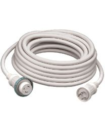 Hubbell 30A/125V 25' Cable Set White HUB HBL61CM03W