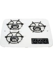 Suburban 3 Burner Srop-In Cooktop White SBM 2938AWH