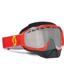 Scott Hustle Snowcross Goggles Red 13 Chrome STU 2177843712015