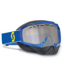 Scott Hustle Snowcross Goggles Blue 13 Chrome STU 2177843713015