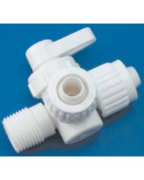 Flair-It Central 3Way Valve 1/2 X1/2 MPTx1/2 FIC 06912