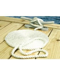 Seachoice Nylon Dock Line Wh 3/8X10 Clam SCP 42501