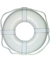 Cal-June 20  White Ring Buoy W/Straps CAL GW20