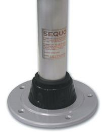 Manufacturers Select 27In Anodized Alum.Table Leg MFS TL400227D