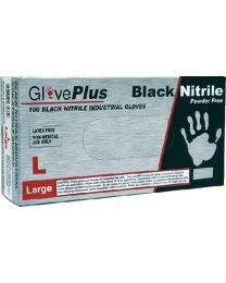 Ammex gloves Black Nitrile Glove Large(100) AMX GPNB46100