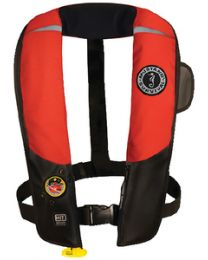Mustang Survival Hit Infl Pfd Auto Blk/Red MUS MD318302123