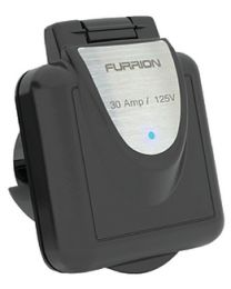 Furrion 30 Amp Black Inlet With Led FUR F30INSBS