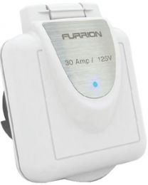 Furrion 30A Square Inlet White FUR F30INSPS
