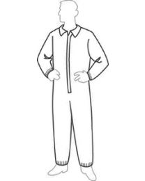 Tyvek Sms Breathable Coverall L @25 TVK 19125L