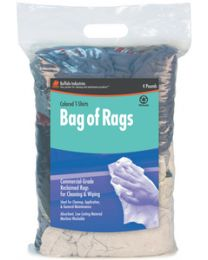 Buffalo Industries Bag Of Rags 4# Colored T-Shirt Buf 10080Pb