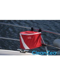 CleanZea Caddy Trash Receptacle Divers Red Edition