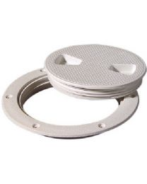 Tempress Screw Out Deck Plate 6In White Tep 43130